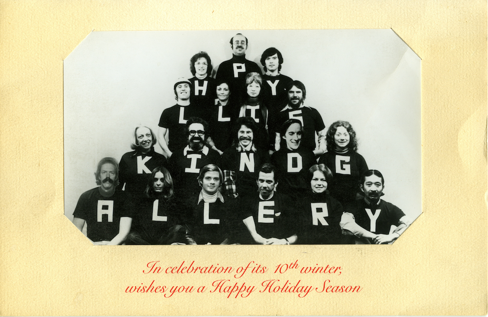 Phyllis Kind Gallery holiday card